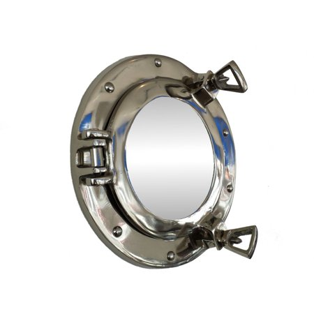 "Deluxe Class Chrome Porthole Mirror 8"" - Decorative Porthole Mirror"