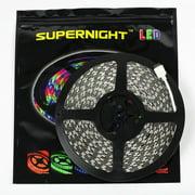 SUPERNIGHT 10m 32.8FT Color Changing Flexible LED Strip Light 5050 SMD 600 LEDs RGB Non-waterproof LED Light Strip Rope Light DC 24V Decorative LED Lighting for Seasonal Decoration