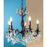 Chateau Imperial Crystal Mini-Chandelier (Aged Bronze - Crystalique)
