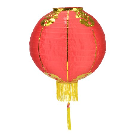 Red Traditional Nylon Chinese Lantern with Tassel, 18in ()