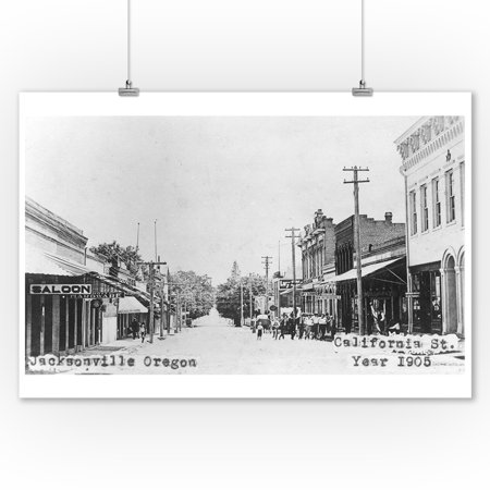 Jacksonville, Oregon - California Street Scene (9x12 Art Print, Wall Decor Travel Poster) - Halloween Jacksonville Oregon