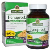 Nature s Answer  Fenugreek  600 mg  90 Vegetarian Capsules