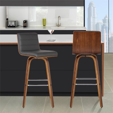 """Hawthorne Collections 30"""" Faux Leather Bar Stool in Gray - image 3 of 7"""