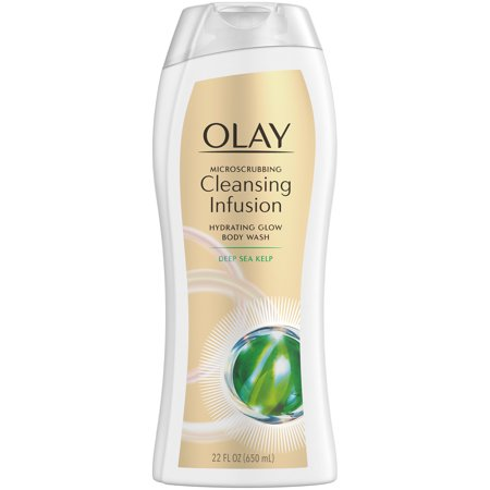 - Olay Cleansing Infusion Hydrating Body Wash with Deep Sea Kelp, 22 oz