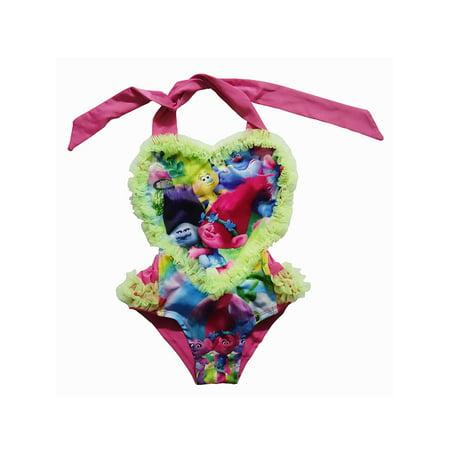 Funny Movie Costume (Baby's Toddler Kids Girl Swimwear Funny Rompers Trolls Costume Bathing)