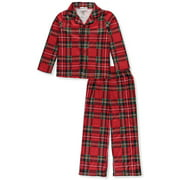 Komar Kids Boys' Red Plaid Button Up Front Pajama set (Little Boy & Big Boy)