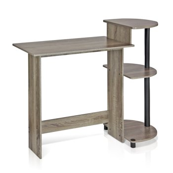 Furinno Compact Computer Desk with Shelves