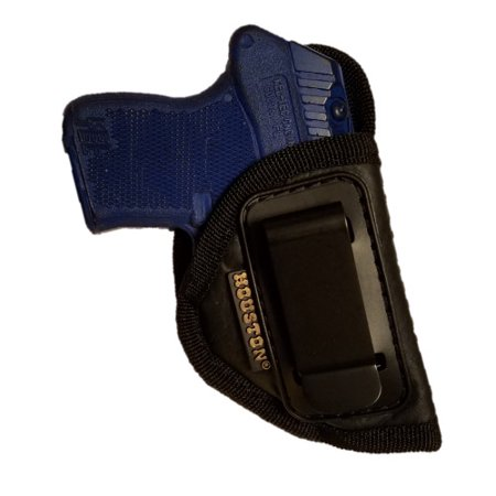 380 Leather Belt Slide Holster - ECO LEATHER Concealment Gun Holster Inside The Waist With Metal Clip (right) Most small 380, Keltec, Ruger LCP, Diamond Back,Small 25 & 22 CAL (CHP-71A-RH)