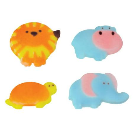 Safari Babies Molded Sugar Cake/Cupcake Decorations - 12 ct](Pink Safari Cupcakes)