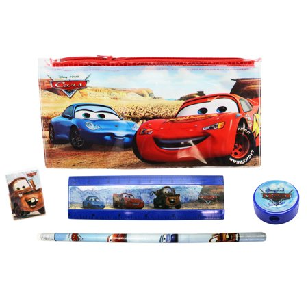 Disney Pixar's Cars Kids Pencil Pouch and School Supplies Kit (5pc)
