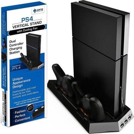 Ortz Gaming Ps4 Vertical Stand With Cooling Fan - Controller Charging Station With Dual (Ortz Ps4 Vertical Stand With Cooling Fan)