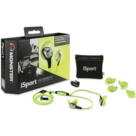 5ce79ed3b40 Monster iSport Intensity In-Ear Headphones with 3-Button ControlTalk, Green  - Walmart.com