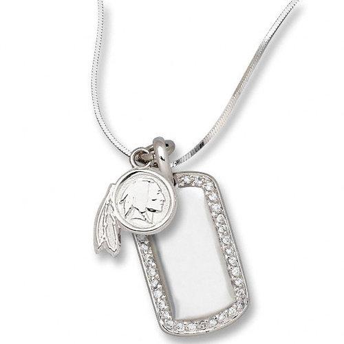 NFL - Washington Redskins Sterling Silver Mini Dog Tag