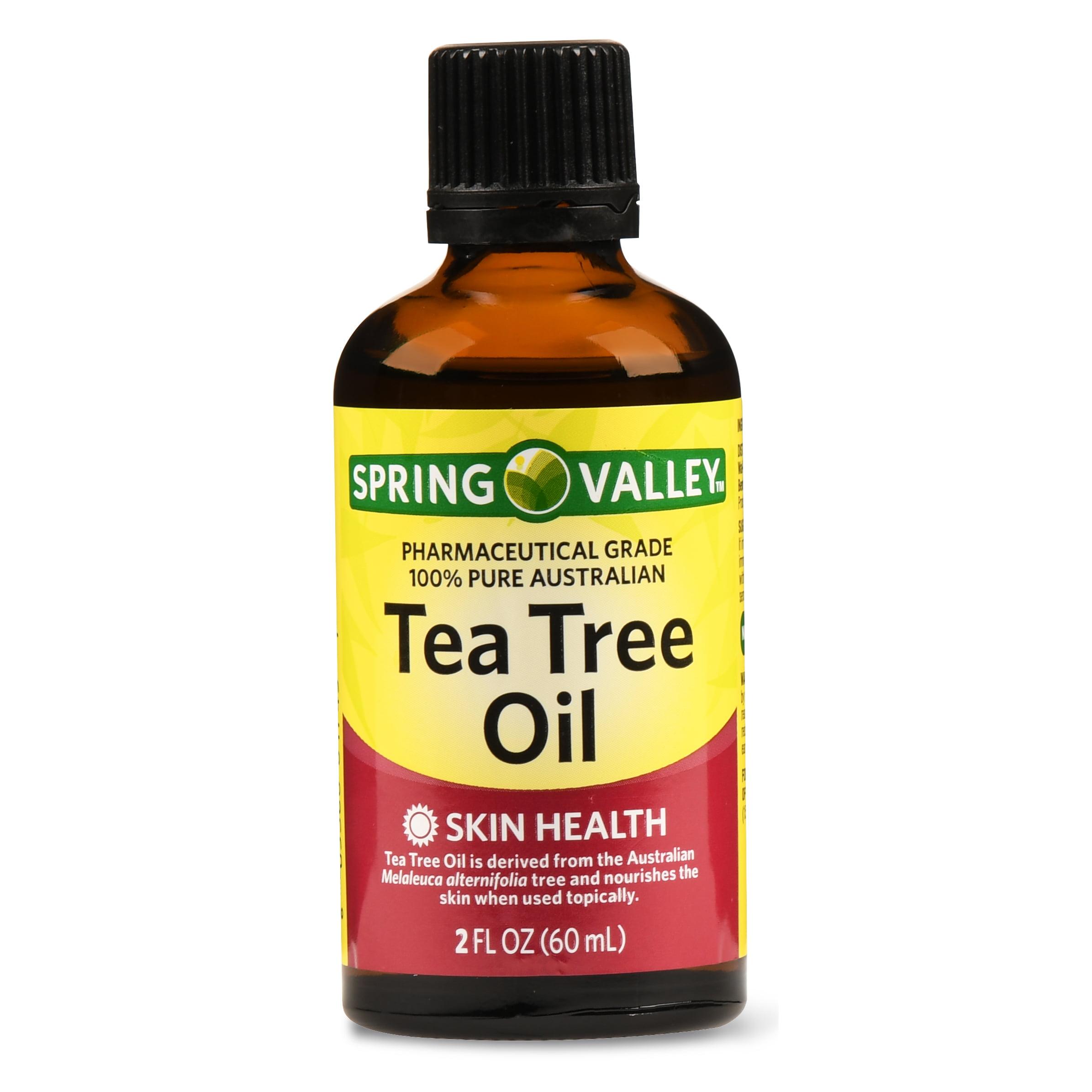(2 Pack) Spring Valley Tea Tree Skin Health Oil, 2 Oz