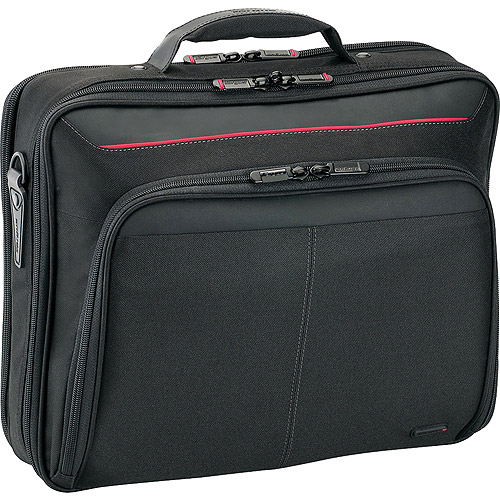 """Targus 15.6"""" Deluxe Clamshell - Notebook carrying case - 16"""" - black with red accents"""
