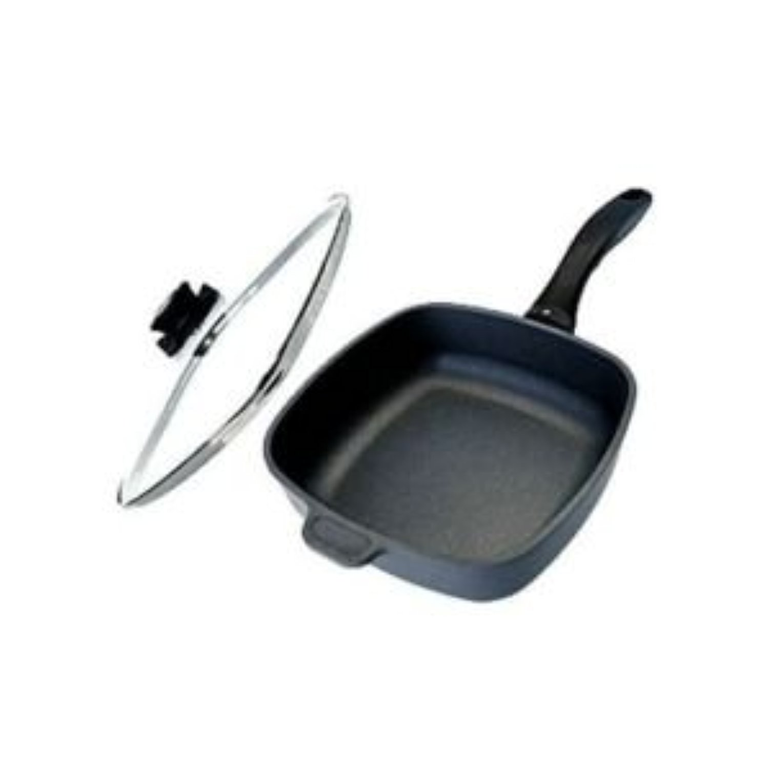 Swiss Diamond Nonstick Square Saute Pan with Lid - 2.1 qt...