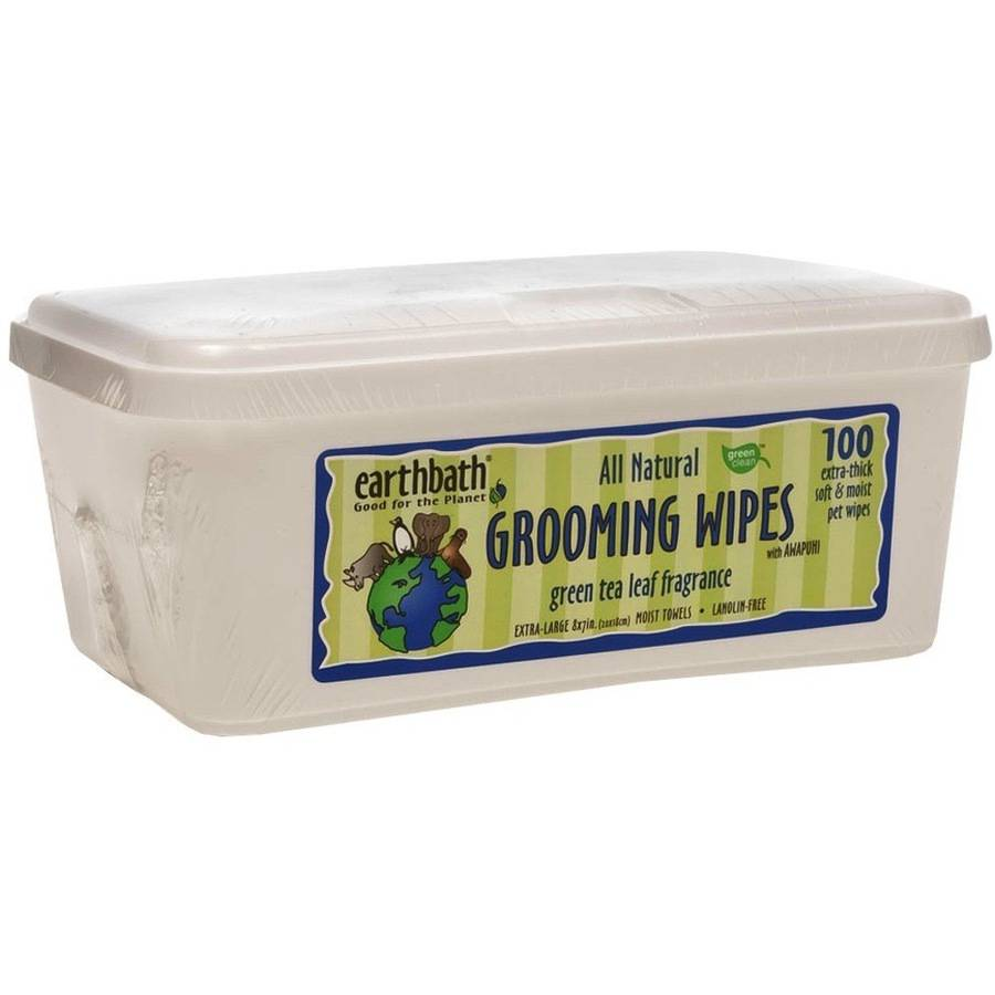 Earthbath Green Tea Leaf Wipes, 100 count