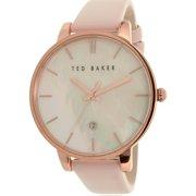 Women's 10026423 Pink Leather Quartz Watch