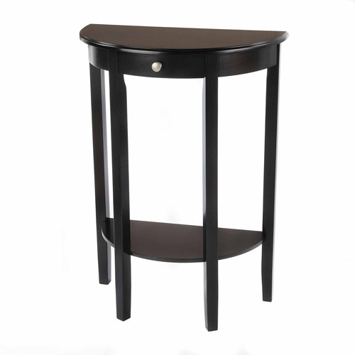 Bay Shore Collection Half Moon/Round Hall Table, Multiple Colors