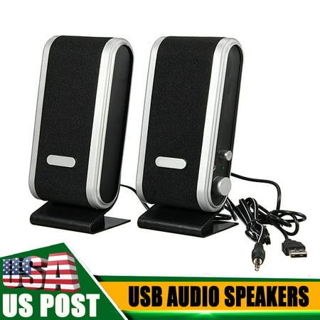 120w 2 Way Stereo (120W 3.5mm USB Power Stereo Audio Speaker Earphone Jack For Laptop Computer PC Loudspeaker)