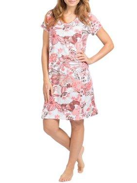 72af1c45ed6b8 Product Image Mommy Style Maternity/Nursing Nightgown Dress - Breastfeeding  Pumping Soft Short Sleeve Tank