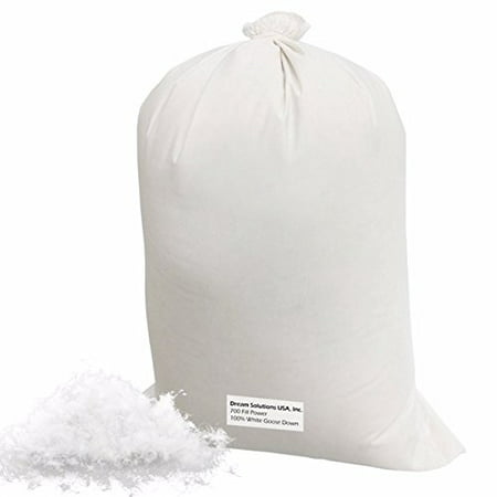 Bulk Goose Down Filling (5 lbs.) 700 Fill Power - 100% Natural White, No Feathers - Fill Comforters, Pillows, Jackets and More - Ultra-Plush Hungarian Softness - Dream Solutions USA