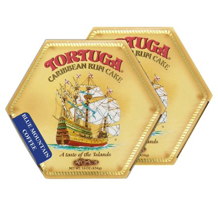 Tortuga Caribbean Blue Mountain Coffee Rum Cake, 16-Ounce Box - Pack of 2](Blue Coffee)