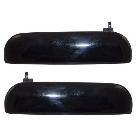 - Pair Set Outside Outer Exterior Ready to Paint Door Handles Replacement for Ford Mustang F4ZZ 6322405 J F4ZZ 6322404 J