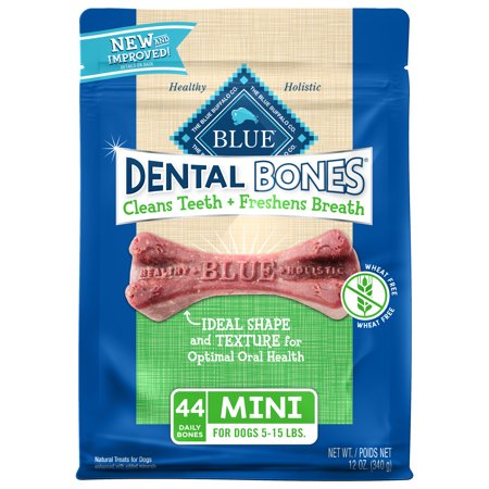 Blue Buffalo Dental Bones Natural Adult Dental Chew Mini Dog Treat, 12-oz