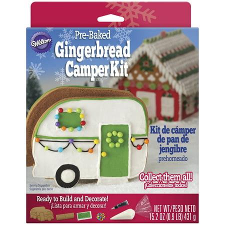 Wilton Pre Baked Gingerbread Decorating Kit Camper