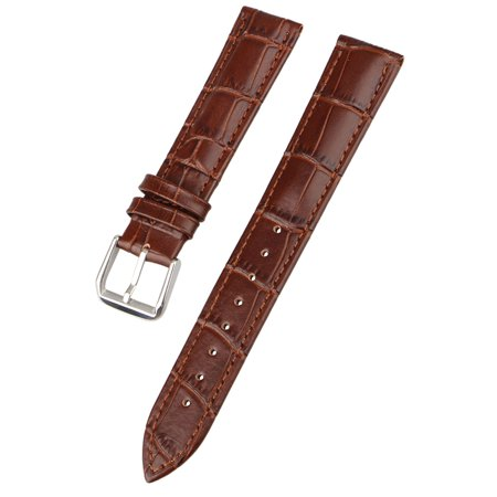 - Genuine Calf Leather Watch Band Alligator Grain Padded for Men Women Color & Width (18mm,20mm)