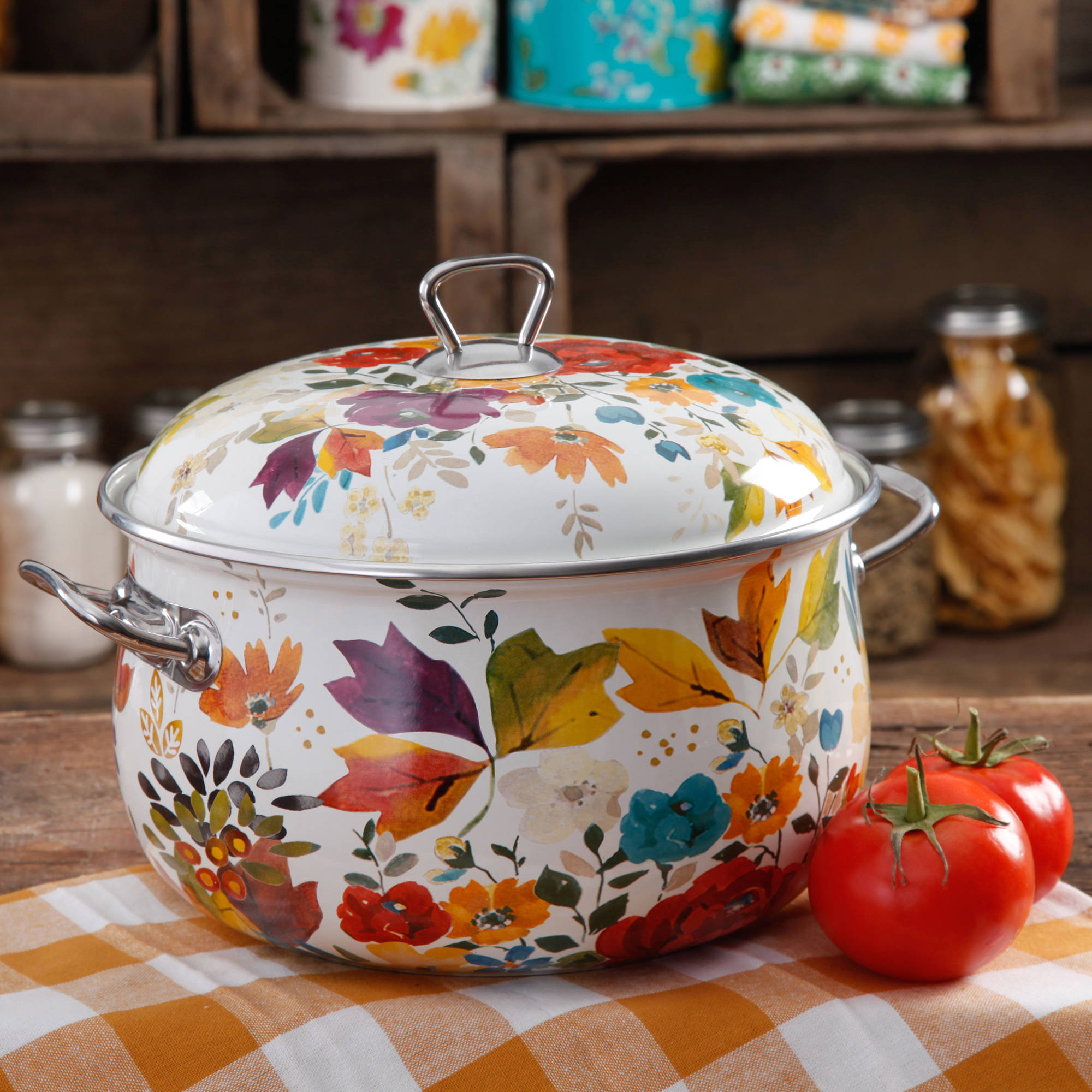 The Pioneer Woman 4-Quart Timeless Floral Casserole with Lid
