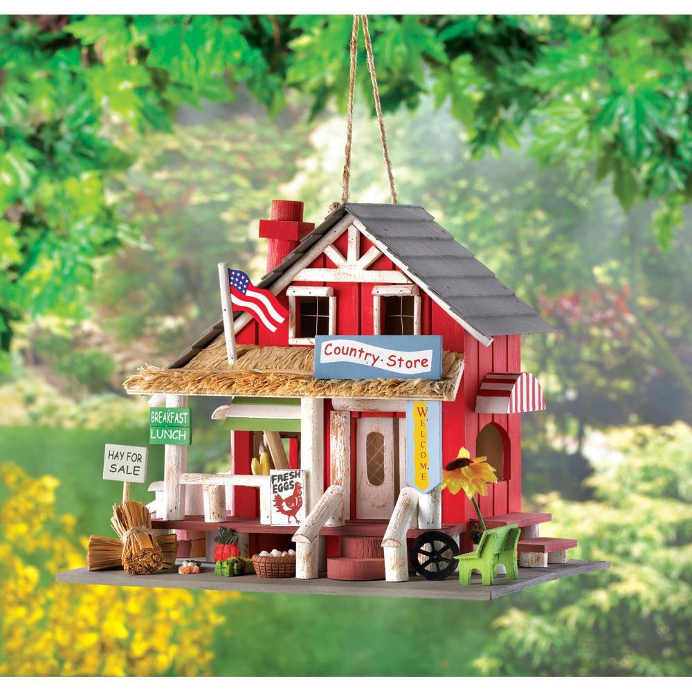 Bird House, Wooden Hanging Outdoor Bird House, Cute Finch Chickadee Birdhouse