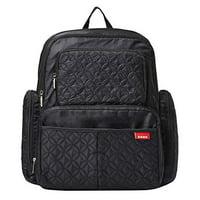 SoHo Backpack Diaper Bag, Manhattan, Classic Black, 5 Piece Set