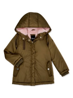 Bhip Girls 4-16 Heavy Weight Lined Parka Coat