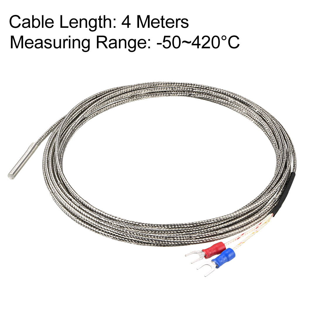 Pt100 Temperature Sensor Probe 4M Cable 4mmx30mm Thermocouple - image 1 of 3