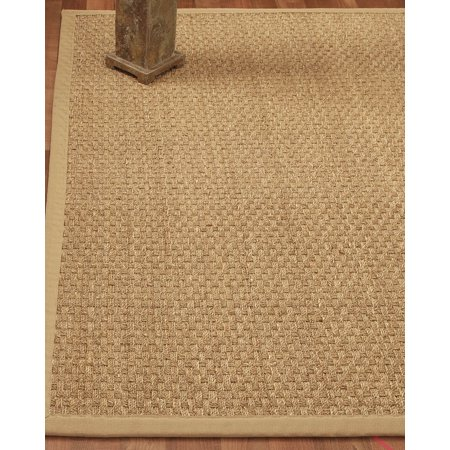 Natural Area Rugs, Rectangle (3'x5'), 100% Natural Fiber Lancaster, Seagrass Sage,Handmade ()