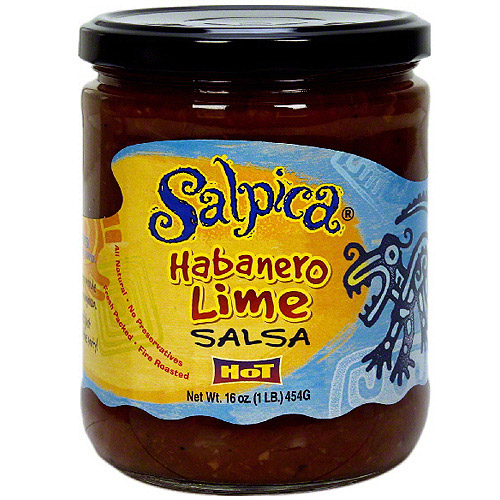 Salpica Habanero Lime Salsa, 16 oz (Pack of 6)