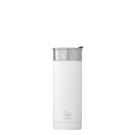 Sip by Swell Vacuum Insulated Stainless Steel Travel Mug, Flat White, 16 oz