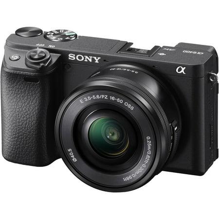 Sony Alpha A6400 4K Wi-Fi Digital Camera + 16-50mm Lens (Sony Alpha A5100 Wi Fi Digital Camera)