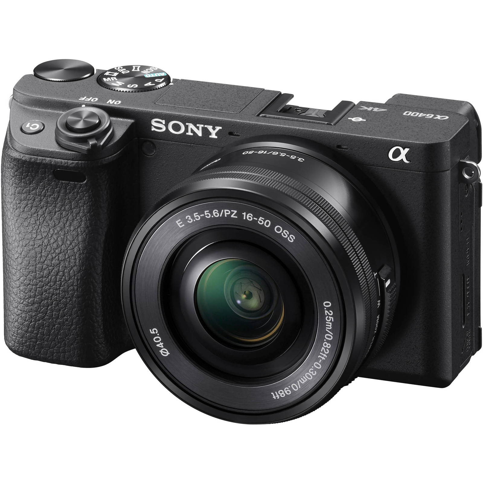Sony Alpha A6400 4K Wi-Fi Digital Camera + 16-50mm Lens (Black)