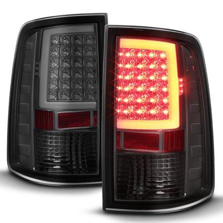 - Fits 2009-2018 Dodge Ram 1500 10-18 2500/3500 Smoked LED Tube Tail Lights Lamp