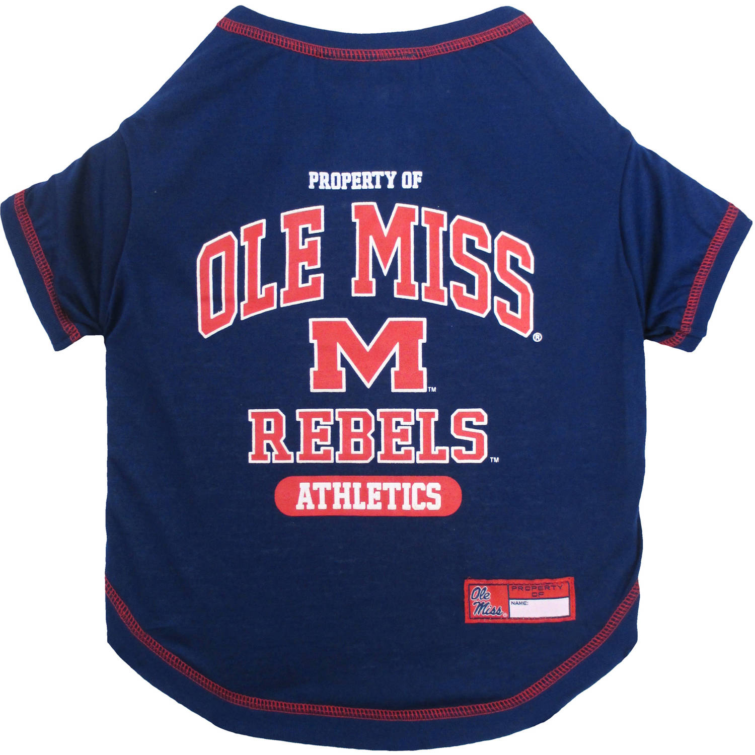 Pets First Collegiate Mississippi Ole Miss Rebels Pet T-shirt, Assorted Sizes