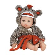 """Adora BathTime Sock Monkey 13"""" Girl Washable Play Doll with Open/Close Eyes for Children 1+ Soft Cuddly Huggable QuickDri Body for Water Fun Toy"""