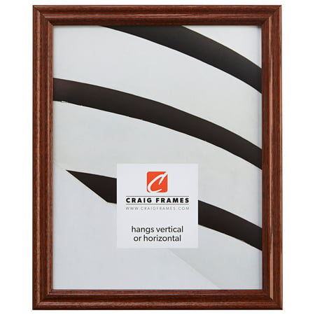15 Inch Open Frame (Craig Frames Wiltshire 200, Traditional Walnut Brown Hardwood Picture Frame, 15 x 17)