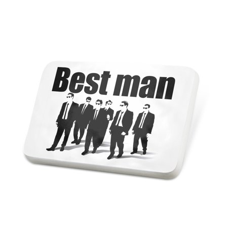 Porcelein Pin Wedding Best man Reservoir Dogs Lapel Badge –