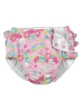 i play. Baby Toddler Girl Ruffle Snap Reusable Absorbent Swim Diaper