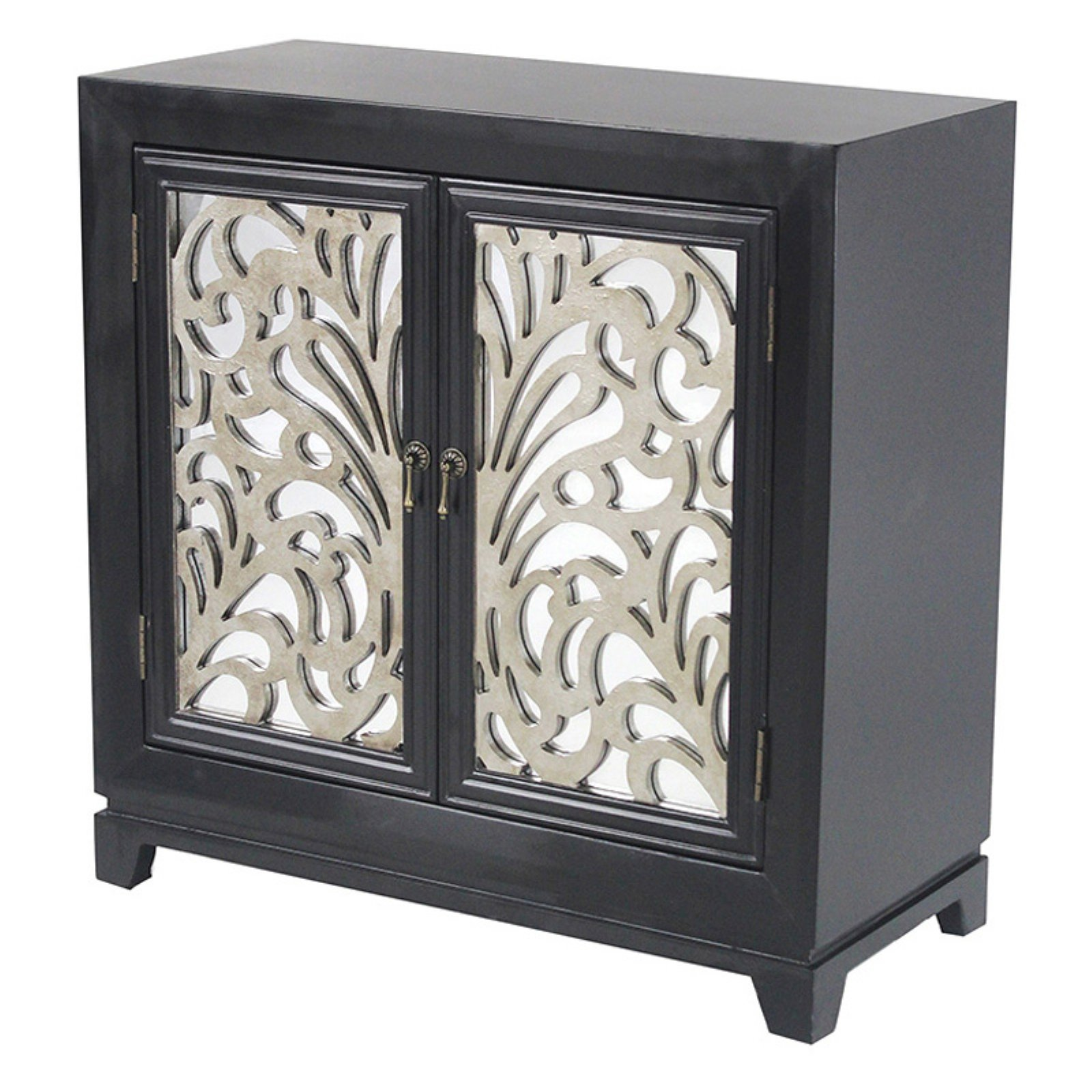 Heather Ann Creations Marrakesh Floral Sideboard with Mirror Inserts