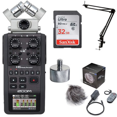 Zoom H6 Handy Recorder w/ H6 Accessory Pack Bundle