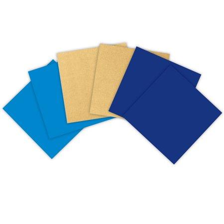 Jillson   Roberts Double Sided Kraft Gift Wrap Sheet Assortment  Hanukkah  12 Sheets